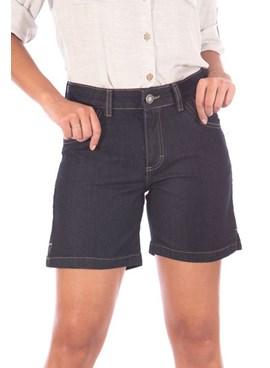 Bermuda Meia Coxa Jeans com Detalhe na Barra