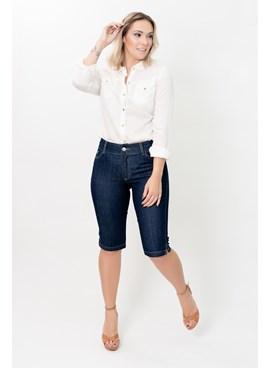 Bermuda Pedal em Jeans