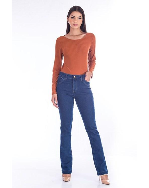 Calça Bootcut Jeans Tradicional