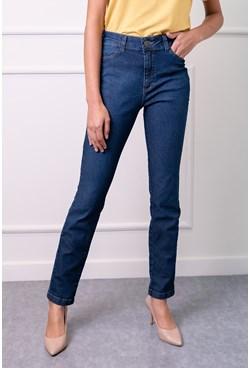 Calça Jeans Reta Básica Azul Escuro