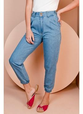 Calça Jogger Jeans Elástico