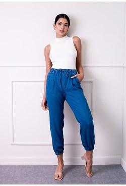 Calça Jogger Jeans Elástico Cós