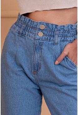 Calça Mom Jeans Elástico