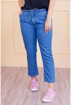 Calça Mom Jogger Jeans