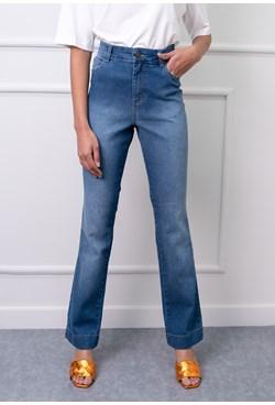 Calça Reta em Jeans Lisa Azul Claro