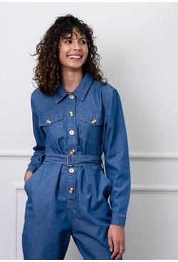 Macacão Utilitário Blue Jeans