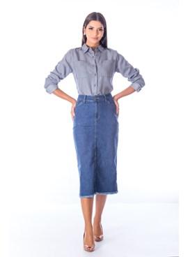 Saia Midi Jeans