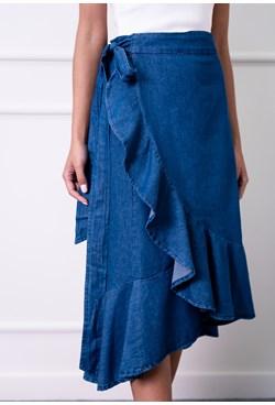 Saia Midi Jeans Lisa Envelope