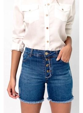 Shorts Curto em Jeans com Botões