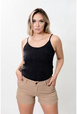 Shorts em Sarja Lisa
