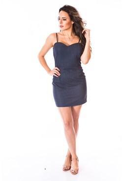 Vestido Jeans Alça Fina Tamanho:36