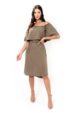 Vestido Midi Ciganinha